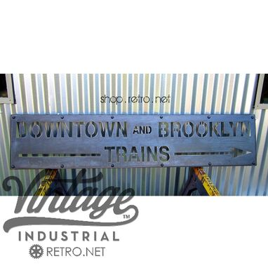 Custom Made Brooklyn Train Sign
