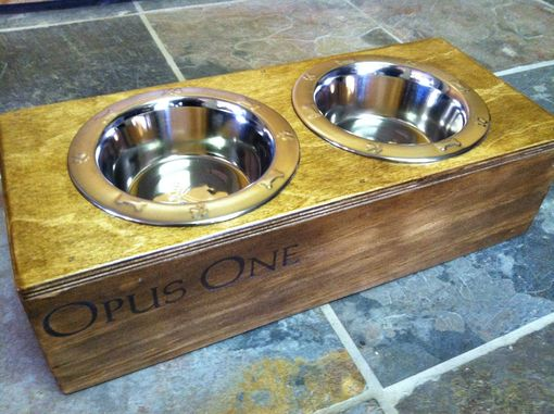 Custom Made Opus One Dog Feeder