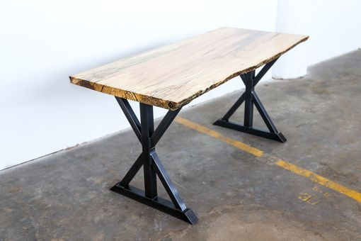 Custom Made Live Edge - Star Trestle Leg - Dining Table