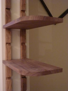 Custom Made Walnut Cantilever Shelf