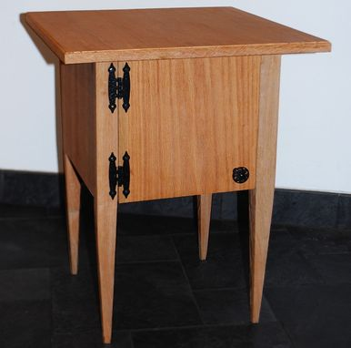 Custom Made Tapered Cabinet Side Table
