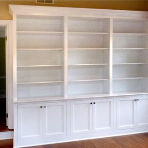 Home Office Built In Bookcases