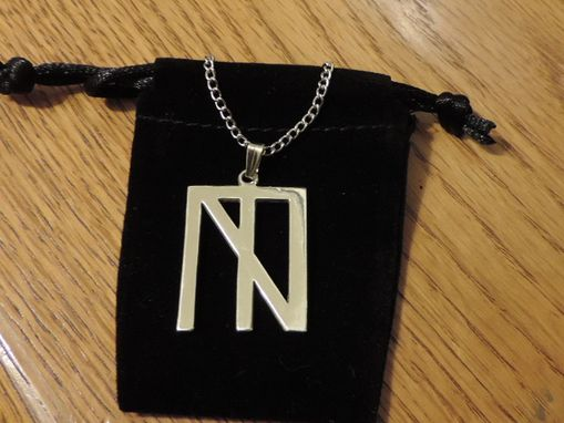Custom Made Sterling Silver Logo Pendant