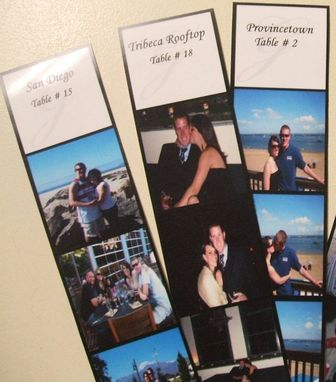 Custom Made Custom Photo Strip 150 Escort Cards And 15 Double Sided Tented Table Names