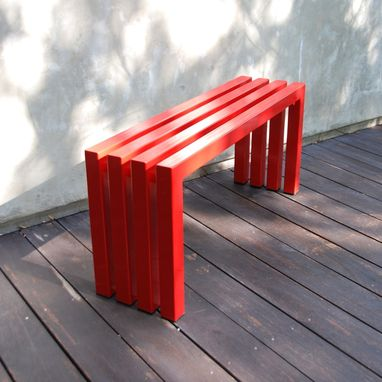 Custom Made Industry Red Linear Bench