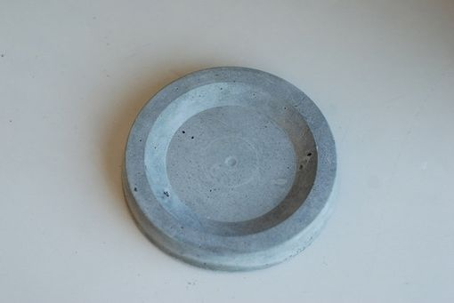 Custom Made Concrete Candle Holder - Small Concrete Dish - Decorative Candle Holder