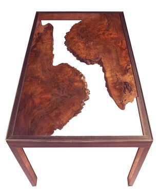 Custom Made Walnut Burl Side Table