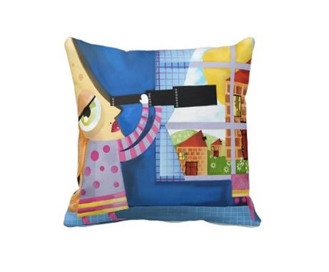 Custom Made Baby Room Pillow - Colorful Pillow