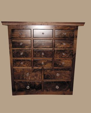 Custom Made Black Walnut Apothecary Chest