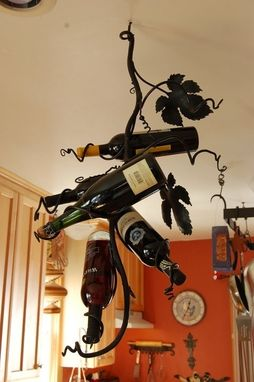 Custom Made Grape Vine Wine Rack.