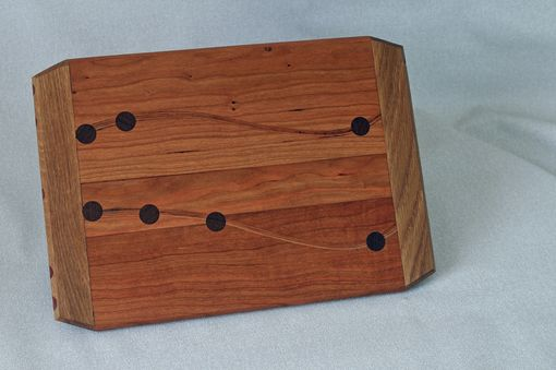 Custom Made Cutting Board Cherry With Cherry Lamination And Maple Or White Oak Breadboard Ends