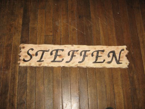 Custom Made Camp Sign - Wood Burnt