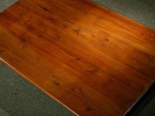 Custom Made Wood Farmhouse Tables With Brown Cherry Finish