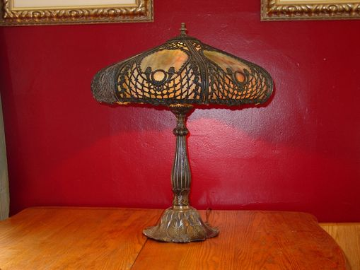 Custom Made Glass Slumping Of Antique Lamps  Or Slag Glass  Or Lamp Repair