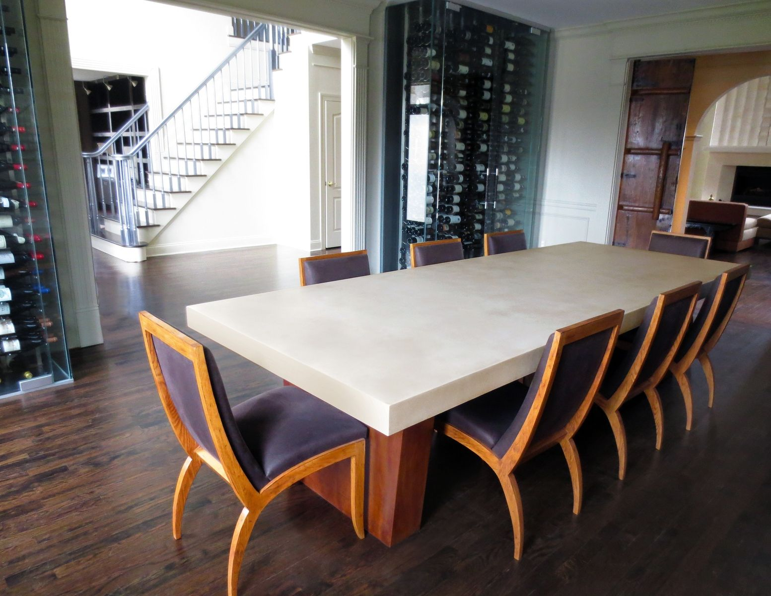 Custom Concrete Dining Room Table By Trueform Concrete - Concrete dining room table