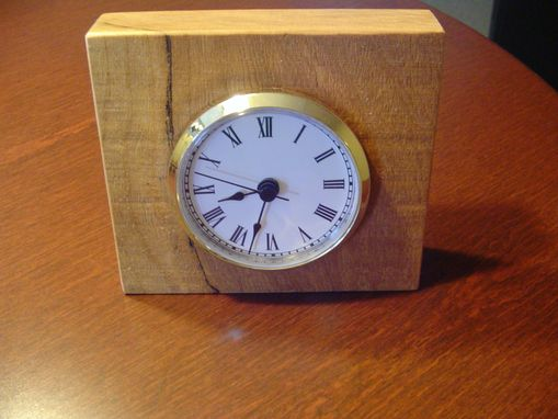 Custom Made Desk Clock Made From Spalted Cherry