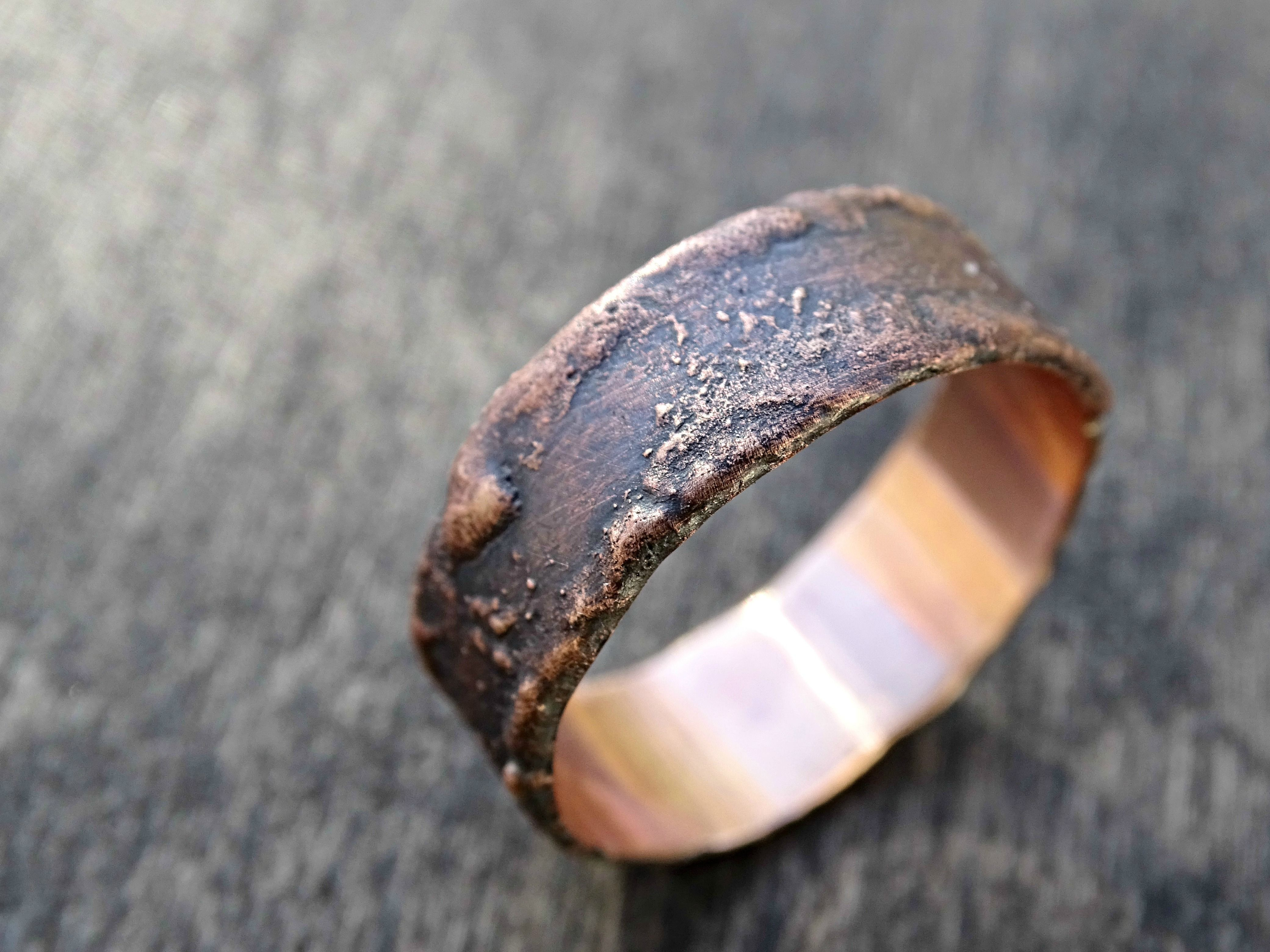mens band buy rin or crazyassjewelry unique bronze engagement wedding a made rustic alternative by rings custom ring