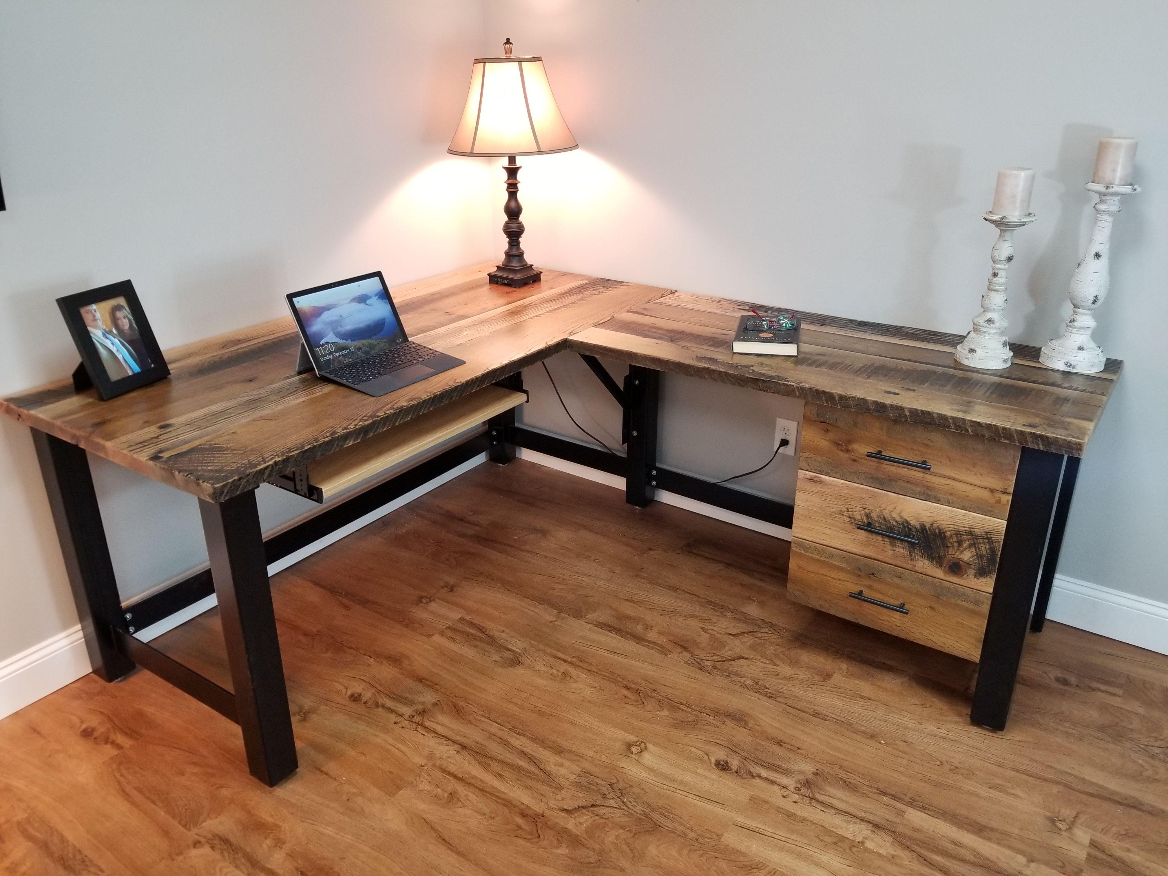 Reclaimed Wood Office Desk