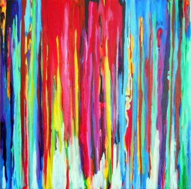 Custom Made Neon Abstract Acrylic Painting