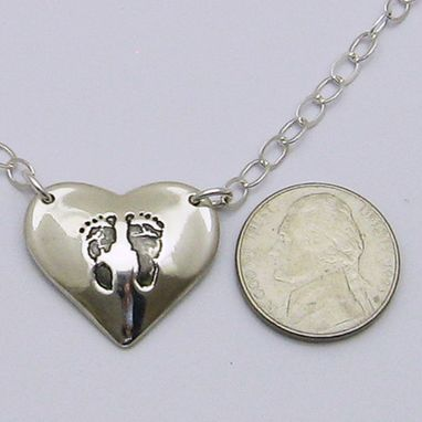 Custom Made Personalized Double-Sided Silver Signature Heart Pendant With Your Actual Handwriting