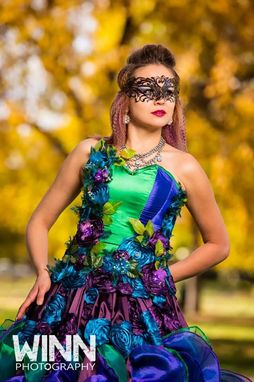 Custom Made Mardi Gras Masquerade Dress