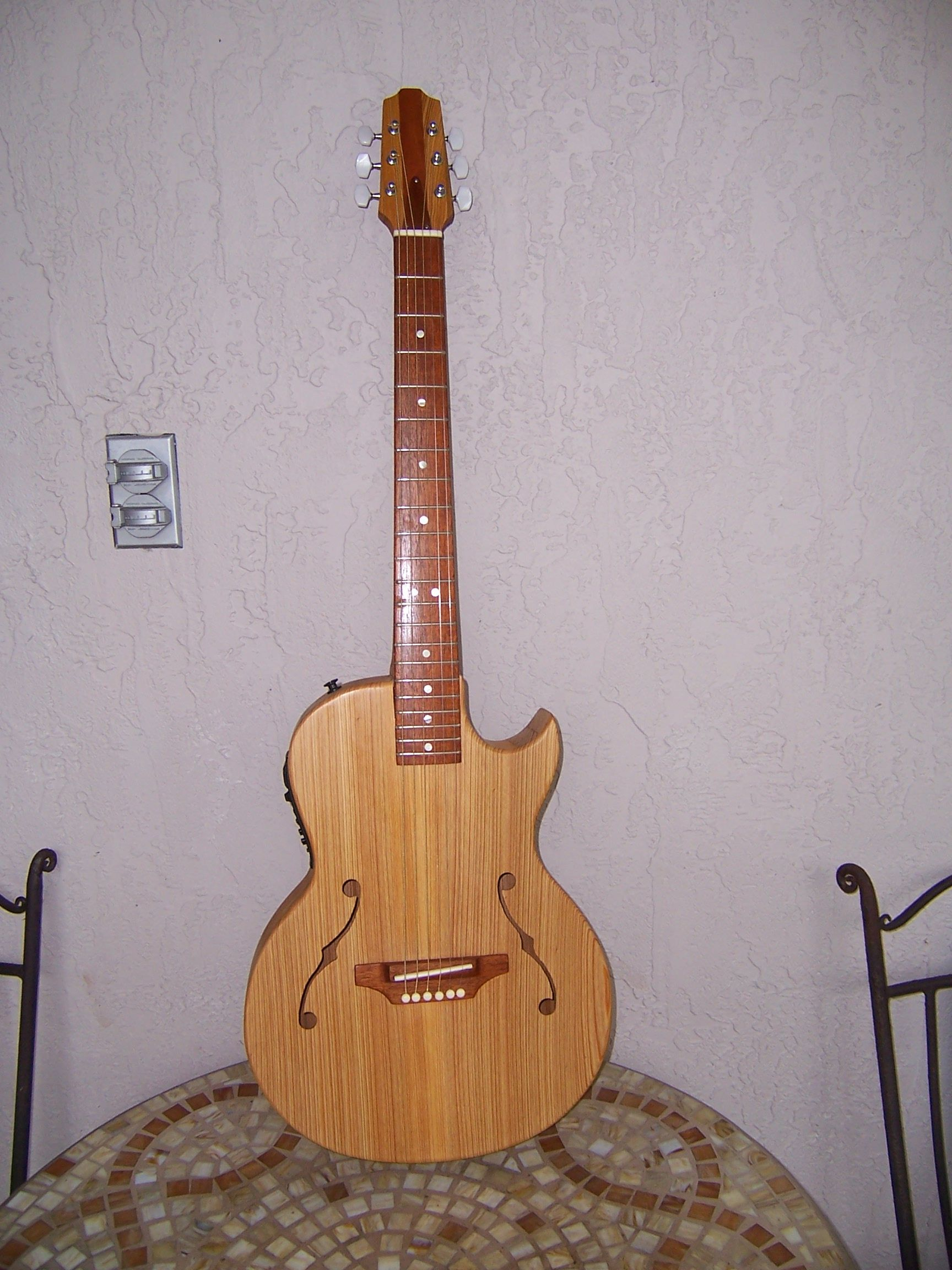 custom acoustic electric jazz hollow body guitar by g s monroe folk music. Black Bedroom Furniture Sets. Home Design Ideas