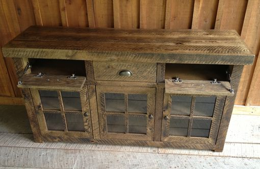 Custom Made Oak Tv Consoles