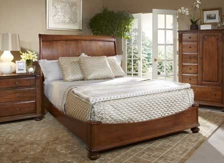 Custom Made Cherry Sleigh Bed - King