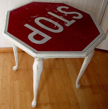 Custom Made Stop Sign End Table