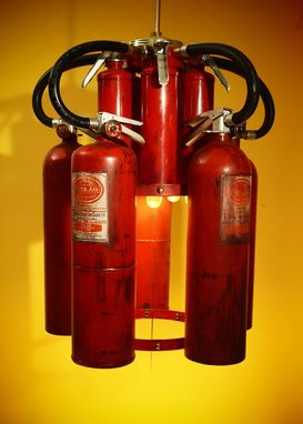 Custom Made Fire Extinguisher Chandelier