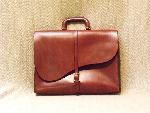 Custom Made Leather Briefcase