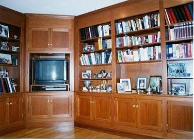 Custom Made Honduras Mahogany Home Library