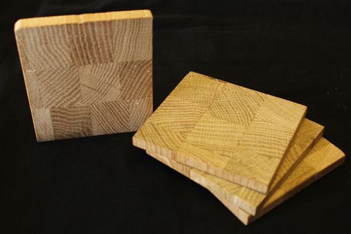 Custom Made Reclaimed Wood Coaster Set