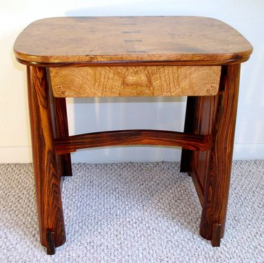Custom Made Burl Top Side Table