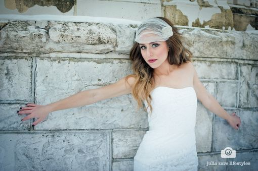 Custom Made Art Deco Bandeau Veil