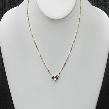 Custom Made Ruby Diamond Necklace Pendant