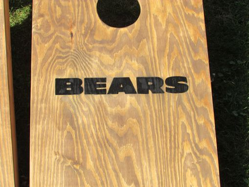 Custom Made Cornhole Bean Bag Set, Bean Bag Toss Game