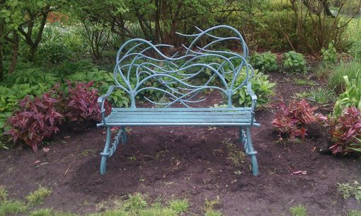 Custom Made Hand Forged Iron Bench
