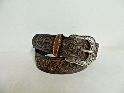 Custom Made Hand Tooled Belt Made To Order To Your Size, Design Or Choose Any Design