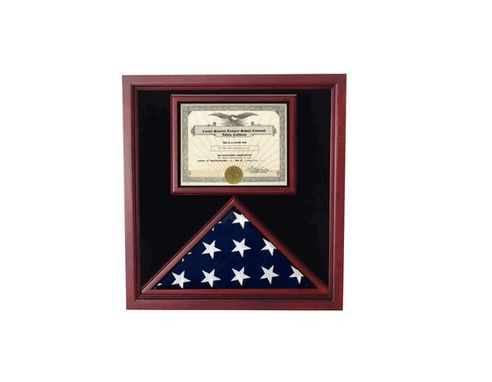 Custom Made Flags Connections Cherry Flag And Document Case