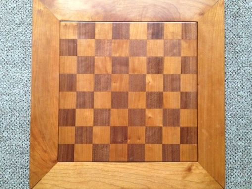 Custom Made Cherry And Walnut Chessboard