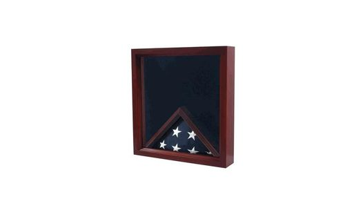 Custom Made Triangle Flag Display Case.