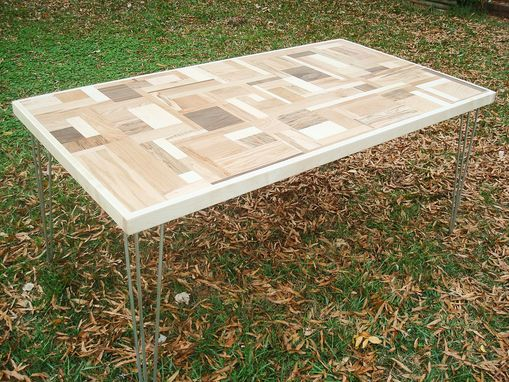 Custom Made Mid Century Modern Puzzle Piece Dining Table