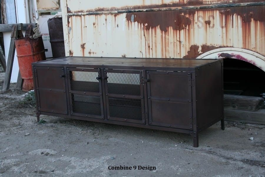Credenza Console : Buy a hand made media console credenza buffet industrial mid