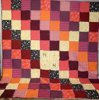 Custom Made Custom Queen Rag Quilt