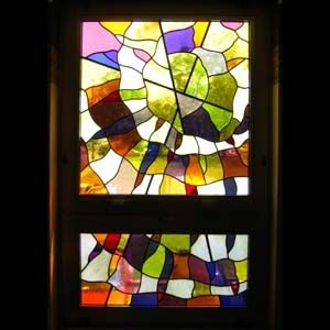 "Custom Made ""In Him There Is No Darkness"" Main Hall Window, Mercy Hospice, Scranton Pa"