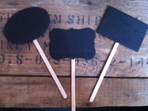 Custom Made Chalkboard Garden/Plant/Cupcake Stakes