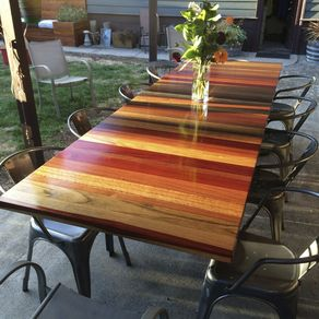 Custom Outdoor Furniture CustomMadecom - Outdoor wood rectangular dining table