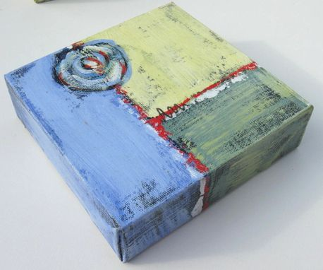 "Custom Made Small Acrylic Abstract Painting Modern Expressionist Contemporary Artwork ""Square Circle"""