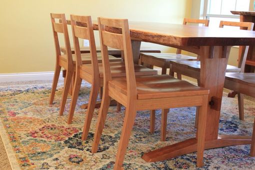 Custom Made Low Back Cherry Cherry Chairs: Modern Farmhouse